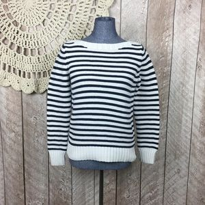 Talbots Cotten striped sweater Medium